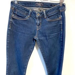 Guess | Starlet straight cut low rise blue jeans